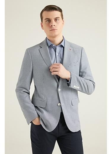 D'S Damat Slim Fitarmürlü Kumaş Ceket Renkli